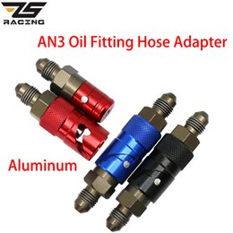 Wholesale race hose for sale – custom ZS Racing Motorcycle AN3 Straight Brake Quick Removal Cover Disassembly Replace Brake Line Connector Oil Hose End Adaptor