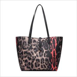Multi Color Ladies Handbags Australia - Fashion leopard large women handbag Brand Designer Shoulder Bag for Female Crossbody Bags PU Leather lady Big Totes 2 pcs