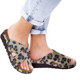 $enCountryForm.capitalKeyWord Australia - Sandals Women Shoes Summer 2019 Fashion Flats Leopard Wedges Open Toe Beach Shoes Roman Slippers Sandalia Feminina 2019