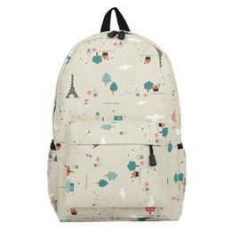 fff96160eff8 Женщины холст пейзаж печати рюкзаки повседневная молния школьные сумки для  подростков девушка рюкзак ноутбук путешествия рюкзак