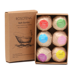 BuBBle products online shopping - 6pcs box Natural Bath Bombs Bubble Bath products Essential Oil Handmade SPA Stress Relief Exfoliating Mint Lavender Rose Flavor