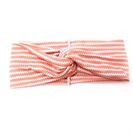 Silver diamond hair bowS online shopping - Women Sports yoga Bow Cotton Soft Turban hair band headband Head Wrap flat knotted Wave print Headwrap