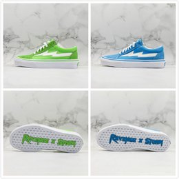 $enCountryForm.capitalKeyWord Australia - Hot Revenge X Storm Old Skool Designer Casual Shoe Blue Green Canvas Street Trending Fashion Mens Classic Leisure Shoes