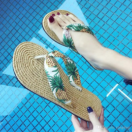 3b51a9e7b Straw Flip Flops Women Australia - Beach slippers outside women wearing  fashionable summer network red out