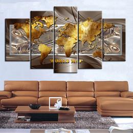 $enCountryForm.capitalKeyWord Australia - 5 Pieces Abstract Art World Map Canvas Painting Home Office Wall Decor Art Print Gift (No Frame)