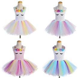 Dance Tutu Wholesale For Kids Australia - hot sale Unicorn Party Girls TUTU Dress dance Costumes Summer Wedding Dresses For Kids toys kids dresses