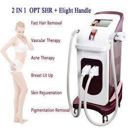 Lift Machine Fast Australia - Ipl Laser Hair Removal Machine OPT SHR Pigment Therapy FAST hair removal painless doube handles IPL Elight machine