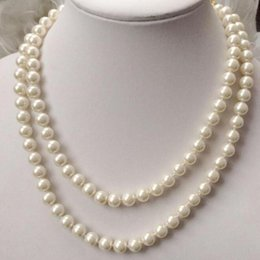 "$enCountryForm.capitalKeyWord NZ - FREE SHIPPING++ + Pretty 6-12mm white South Sea Shell Pearl round beads necklace 33"" AAANoble style Natural Fine jewelry"