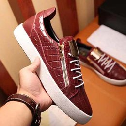 Discount men shoes sneakers zipper - Fashion Zipper Designer Low Cut Shoes Men America Flat leather Men's Womens Brand Shoes Luxury Casual Sneakers Onli