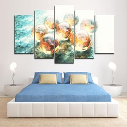anime picture Australia - Framed 5pcs Japanese Anime Dragon Ball Wall Art HD Print Canvas Painting Fashion Hanging Pictures Bedroom Decor