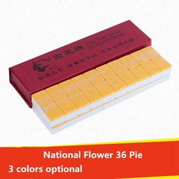 game tiles Canada - National Flower 36 Pie 3 colors optional Casual Games Mahjong With Dice Shaped Travel Portable Mahjong Tiles Entertainment Festive Supplies