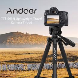 Dslr Slr Camera Australia - ndoer TTT 663N Tripod 57.5inch Travel Lightweight Camera Tripod for DSLR SLR Camcorder with Carry Bag Phone Clamp Max.Load 3kg Andoer TTT...