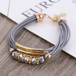 Wholesale Bracelet New Fashion Jewelry Leather Bracelet for Women Bangle Europe Beads Charms Gold Bracelet Christmas Gift C18122801