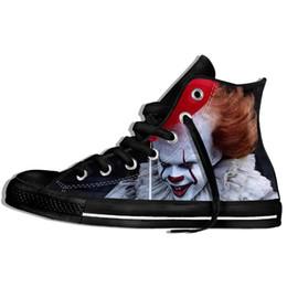 $enCountryForm.capitalKeyWord Australia - Horror Movie It Penny Wise Clown Joker 3d Print Shoes Men women Casual Shoes Fashionable Canvas Shoes