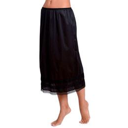 $enCountryForm.capitalKeyWord Australia - Women Petticoat Underskirt Skirts Polyester underdress Solid Skirt Hem Vestidos Summer Casual Slips Lady Lace Mini Sexy