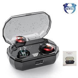 headset ipad NZ - TWS Mini Bluetooth 5.0 Headphones Earphones Stereo Bass Wireless Headset Earbuds with Mic Charging Box For ipad iphone samsung huawei xiaomi
