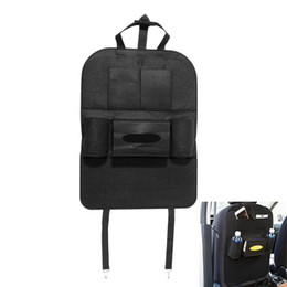 Car storage Cell phone online shopping - Auto Car Organizer Back seat Bag cup Holder Multi Pocket Seat cell phone sundies Storage Container Hanging Box Car Storage