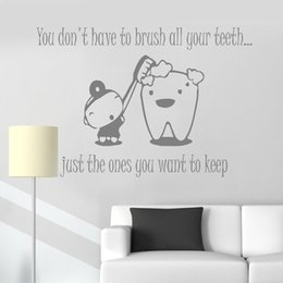 $enCountryForm.capitalKeyWord Australia - New Wall Stickers Quote You Don't Have To Brush Vinyl Decal Bathroom Dentist Tooth Decor Wallpapers Teeth Mural Home Decor