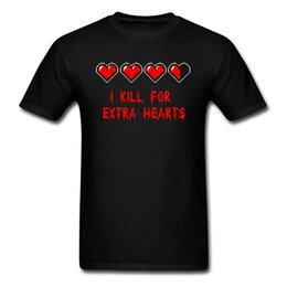 China Europe Tshirts Kill For Extra Hearts T-shirt Men T Shirt Summer Game Tops Funny Letter Tees Black Cotton Clothes Personalized supplier kill games suppliers