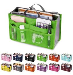 Cosmetic Bag Insert Liners NZ - Organizer Insert Bag Women Nylon Travel Insert Organizer Handbag Purse Large liner Lady Makeup Cosmetic Bag Cheap Female Tote (Retail)