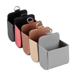 Автомобильная розетка Vent Seat Back Tidy Коробка для хранения ПУ Кожаная сумка для монет Карманный органайзер Подвесной держатель Сумка Автомобильные аксессуары на Распродаже