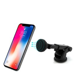 Wholesale Phone Holder Car Mount Magnetic Bracket Windshield Dashboard Cell Phone Holder Degree Rotation Adjustable Stands With Strong Suction Cup