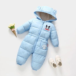 2715b11e550 good quality newborn baby rompers winter thicken warm outerwear baby boys  girls jumpsuit long sleeve hoodies cartoon dog clothing