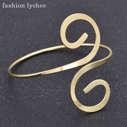 upper arm cuffs NZ - fashion lychee Beautiful leaf Heart Swirl Shape Bracelet Armlet Upper Arm Cuff Women Bangle Antique Gold Jewelry