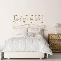 $enCountryForm.capitalKeyWord Australia - You Are So Loved Quotes Wall Sticker Children Room Quote Lettering Wall Decals Removable Baby Nursery Love Quote Wall Decor Q326