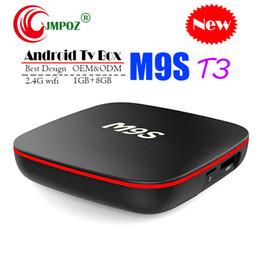 $enCountryForm.capitalKeyWord Australia - 1 PCS M9S T3 Android 7.1 Tv Box Quad Core 1GB 8GB H3 Chip Support Wifi 4K 3D Media Player Smart Tv Box Better TX2 MXQ PRO M96X S8