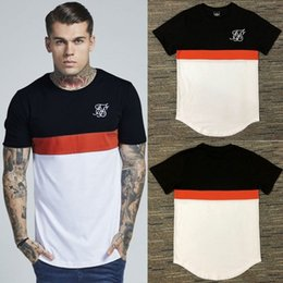 $enCountryForm.capitalKeyWord Australia - Men Brand Summer Kanye West Sik Silk Stitching Men Casual Hip Hop Irregular Cut Zipper Short Sleeved T-shirts Black White Red J190524