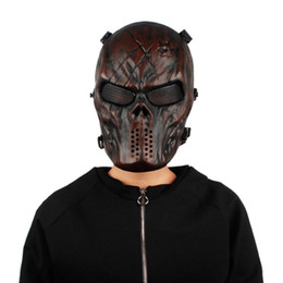 Discount skeleton tactical mask - Cycling Face Masks 1PC Paintball Full Face Skull Skeleton CS Mask Tactical Breathable Windproof Scary Masks