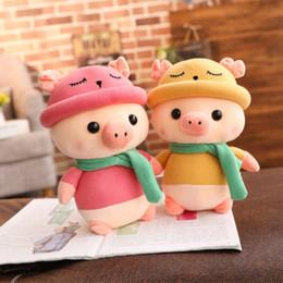 green color dolls 2019 - Plush Toys Adorable Piggy Plush Doll Soft Stuffed Pig Dolls Home Decor Gift J2Y discount green color dolls