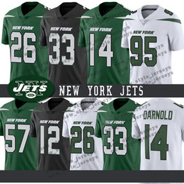 Vente en gros New York Men Jets Jeresy 26 ans Le'Veon Bell 33 Jamal Adams 14 ans Sam Darnold 57 ans C.J. Mosley 12 Joe Namath Maillots de Football