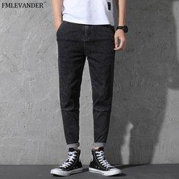 44 Pants Australia - High Quality Plus Size 44 46 Pure Color Straight Denim Pencil Pants Male Brand XXXX Large Jeans Men Jeans Homme