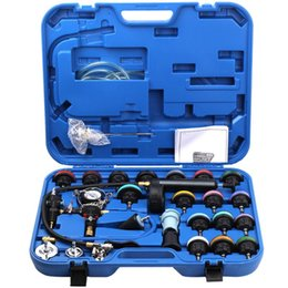 cooling tester UK - 28pcs Car Special Tool repair tool kit sets Radiator Pressure Tester Vacuum Type Cooling System Test Detector tools Kit Car