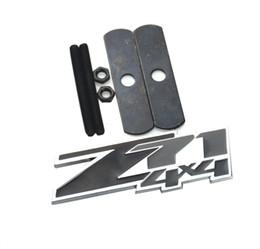 Chevy Wholesale Australia - Aimoll 1 pc OEM Z71 4x4 Emblems Badges, 3D ABS Decal Emblems Replacement Sticker for Chevy GMC Silverado (Chrome Black)