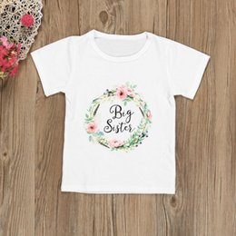 Floral Print Shirts Baby Australia - good quality Kids Baby Clothes Girls Short Sleeve Letter Floral Sister T shirt Tops Outfits Flower child a letter printed t-shirts