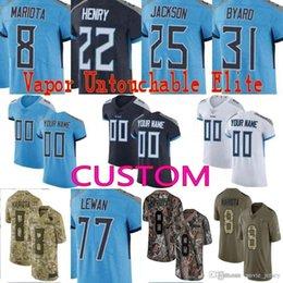 0cf7125b4 custom Men Youth women Tennessee Marcus Mariota Kevin Byard Taylor Lewan  Delanie Walker Davis titans Elite Camo Salute to Service Jersey