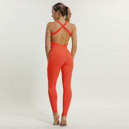 Pink Clothing Women UK - Sports Jumpsuits Yoga Suit Women Workout Clothes For Women Sports Wear Gym Yoga Set Sexy Leggings Sport Suit Fitness Clothing Y190508
