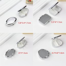 Metal Medicine containers online shopping - 6 Styles Metal Silver Tablet Pill Boxes Holder Effective use of space Advantageous Container Medicine Case F3208