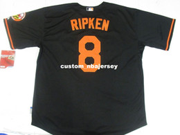 7ffe779d7c06 Cheap Custom New Cal Ripken Jr.  8 Mens Cool Base jerseys Black Stitched  Retro Mens jerseys Customize any name number