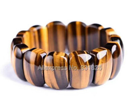$enCountryForm.capitalKeyWord Australia - Wonderful Multicolor Top Quality tiger's eye Gem Stone Stretch Slice Bracelet Woman Man's Bangle Bracelets fashion Jewelry