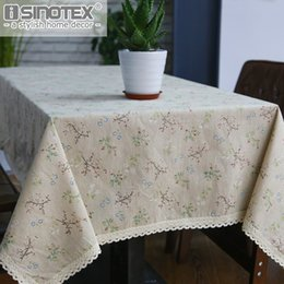 table tablecloths Australia - ome Textile Cloth Fashion Dandelion Linen Table Cloth Country Style Flower Print Multifunctional Rectangle Table Cover Tablecloth with L...