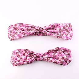 Wholesale Designer Mother And Me Headbands Hair Bows For Hair Accessories Baby Girl Headband Head Band Fascinator Hats Toddler Bunny Bow