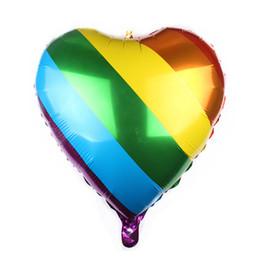 2cc654274b 24 inch love rainbow foill balloons air ball Valentine's Day wedding birthday  party decorations kids helium balloon globos