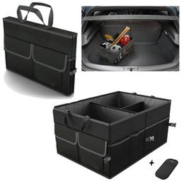 Trunk Storage Box Australia - Trunk Cargo Organizer Folding Caddy Storage Collapse Boxes Bin for Car Truck SUV 23.5 x 15.5 x 12 inches