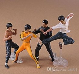 Wholesale Chinese Figures Australia - new Chinese Kungfu Star Bruce Lee Figures Toys Bruce Lee Action Figures Collection Toys 4pcs Set GIFT