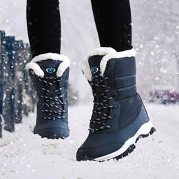 Black Platform Snow Boots Australia - Women boots non-slip waterproof winter ankle snow boots women platform winter shoes with thick fur botas mujer488