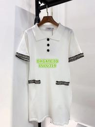 $enCountryForm.capitalKeyWord NZ - Women Brand Knit Shirt Dresses With Tweed High Quality Shirt About Knee Dress Mini Brand A-Line Polo Dress